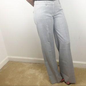 Express Gray Editor Wide Leg Dress Pant